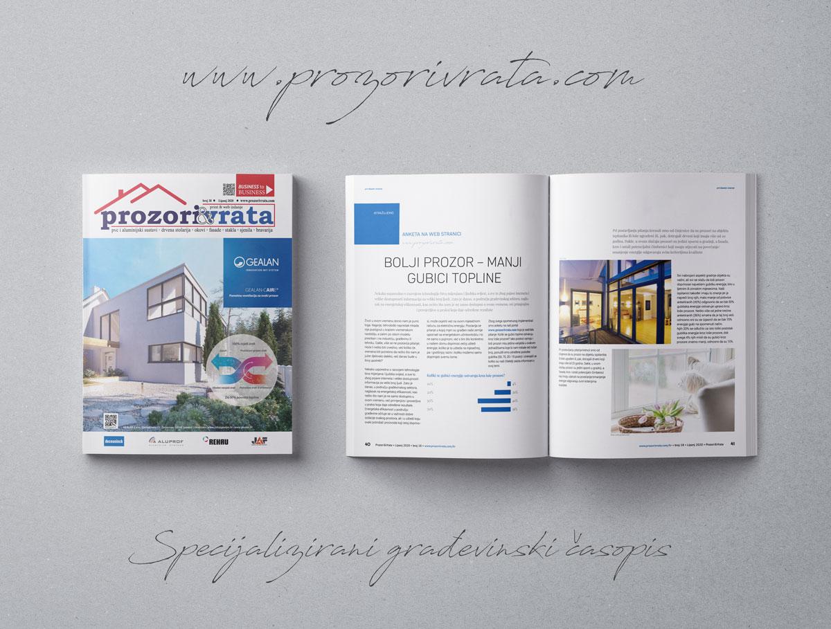 Časopis PROZORI&VRATA broj 17 lipanj 2020
