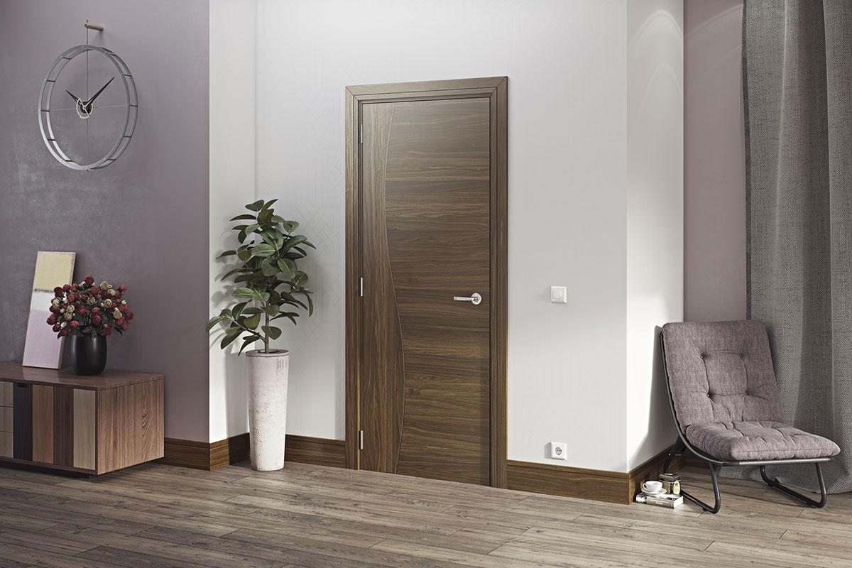 Ulazna vrata boje lešnjaka