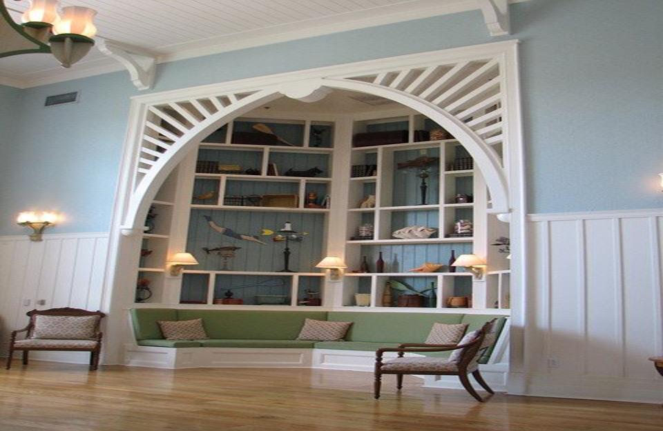 Deo prostorije kao kutak za čitanje.