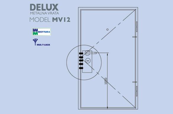 Delux metalna vrata mv12