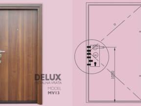 Delux metalna vrata MV13