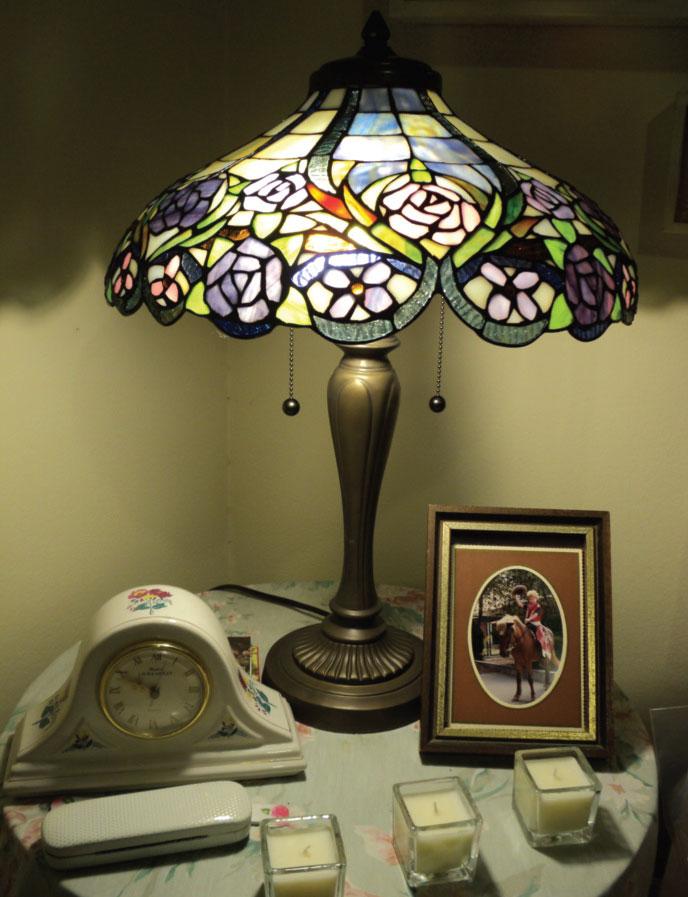Vitraž na lampi