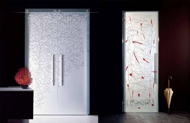 Unutrašnja vrata od stakla
