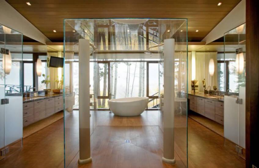Moderne tuš kabine od stakla