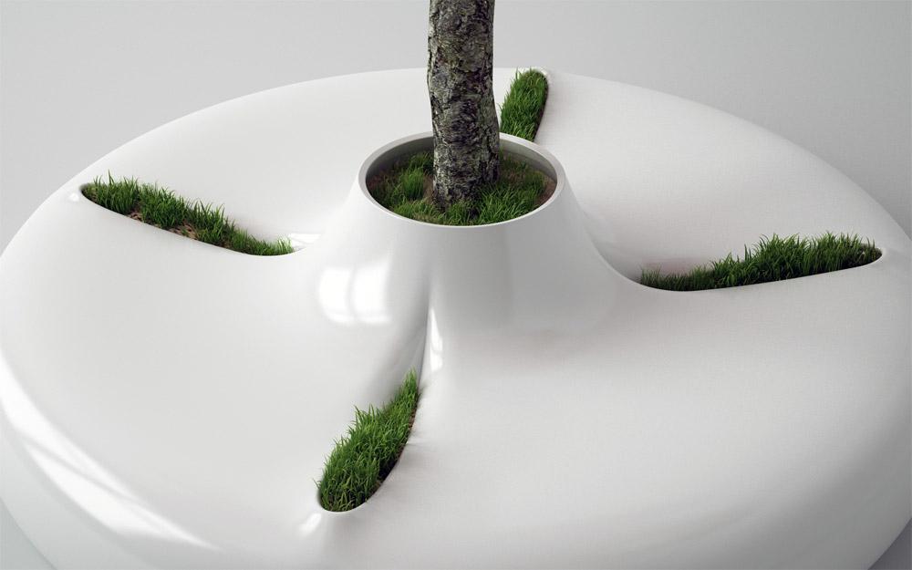 Ideja je preneti komad prirode u hladan eksterijerski prostor