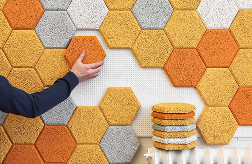 Heksagonalne, akustične zidne pločice švedskih dizajnera
