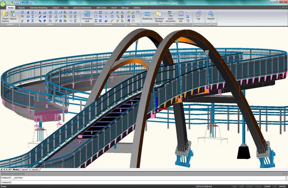 Prikaz mosta u softveru