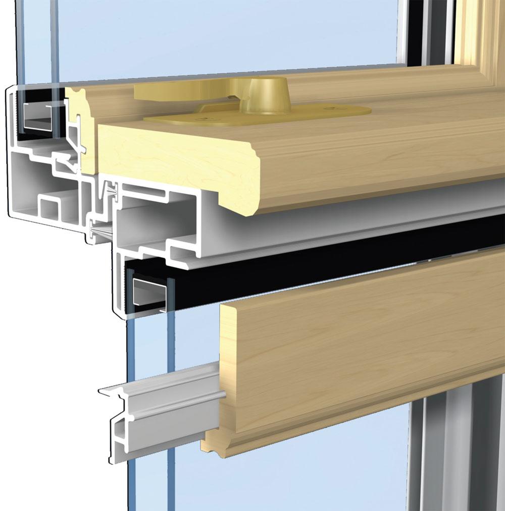 PVC prozori su ojačani čeličnim profilima