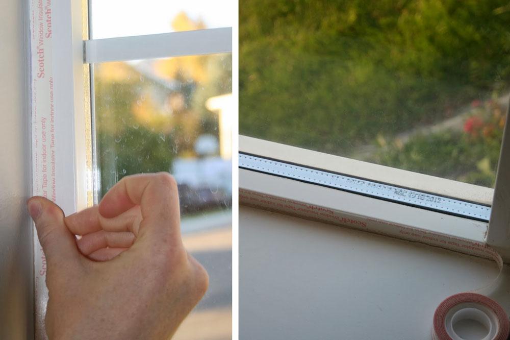 Postavljanje trake oko prozora koja će omogućiti njegovo bolje dihtovanje i smanjiti protok vazduha kroz prozor