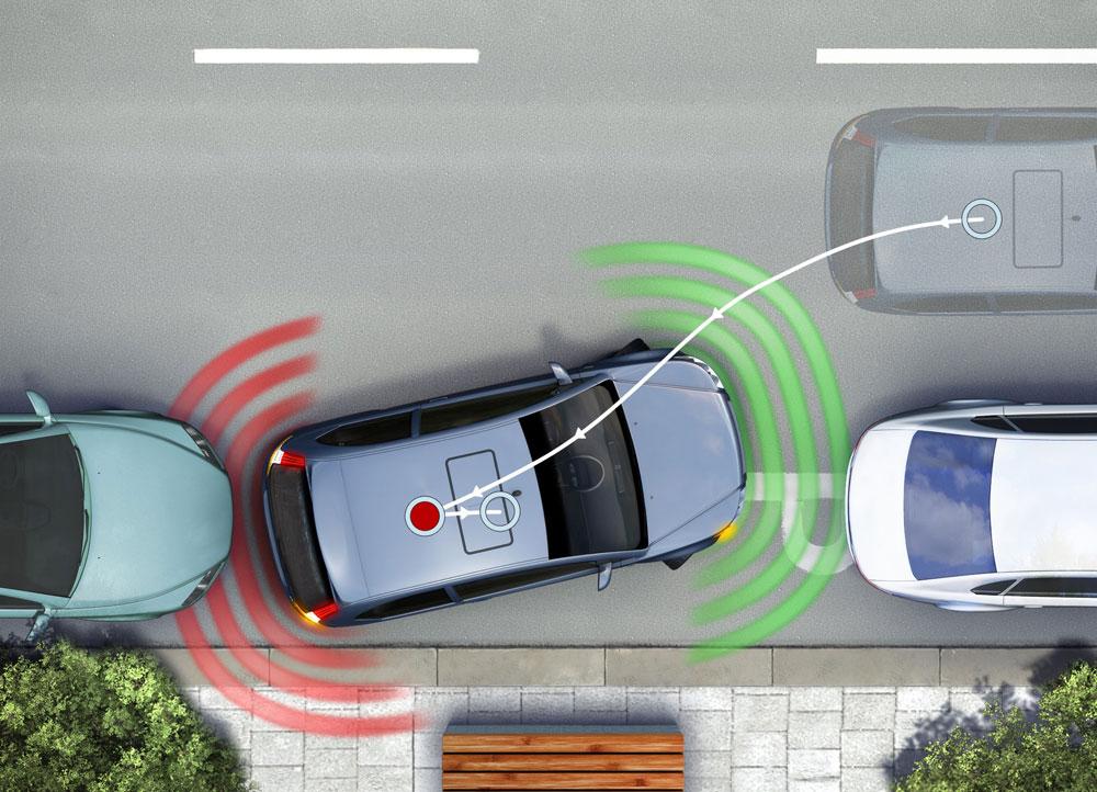 Parking asistent automatski laserski projektuje položaj vozila prilikom ulaska u garažu na ploču s instrumentima