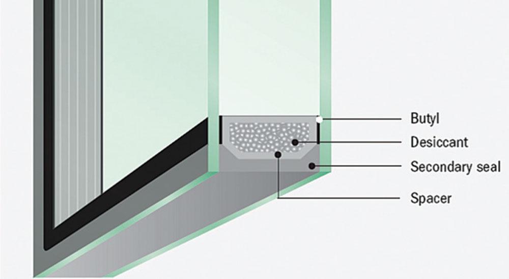 Šematska struktura dvostrukog izolacionog stakla