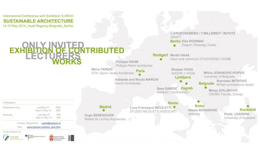 """Međunarodna konferencija sa izložbom S.ARCH - """"Održiva arhitektura"""""""