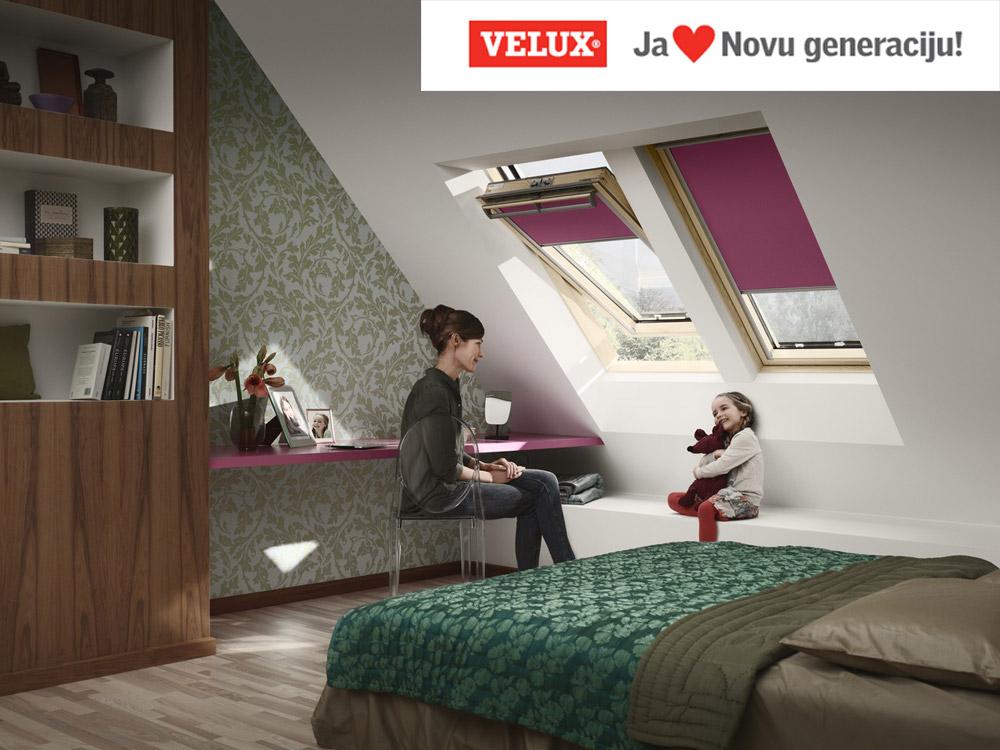 Nova generacija VELUX krovni prozora