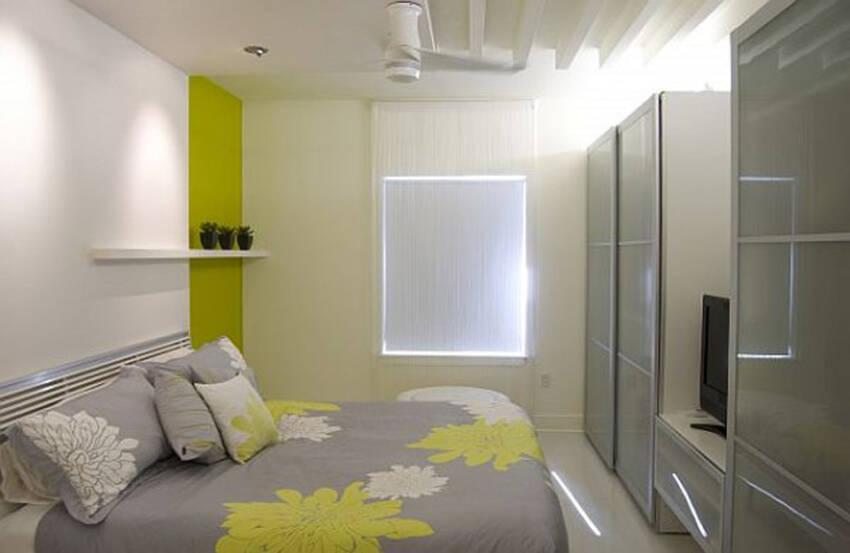 Futuristički dizajn garderobera u spavaćoj sobi
