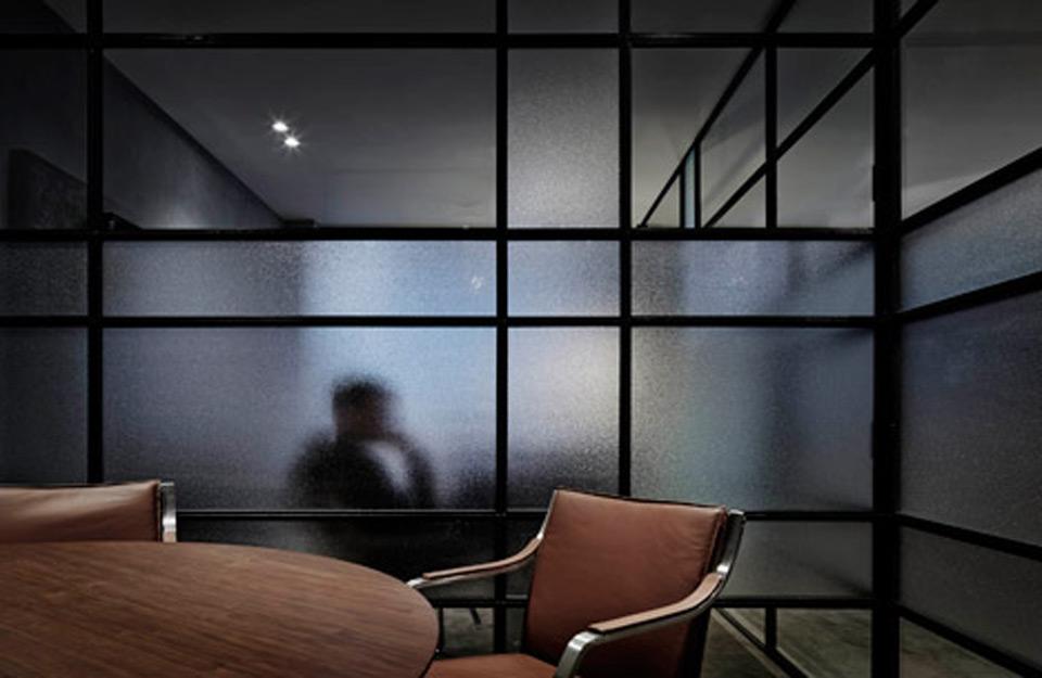 Radni prostor sa efektom osvetljenja matiranog stakla