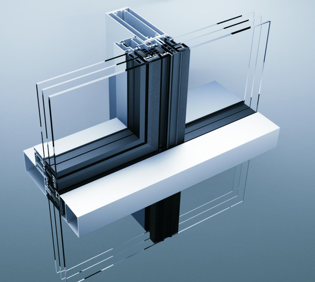 Aluminik CS55 kombinovana fasada