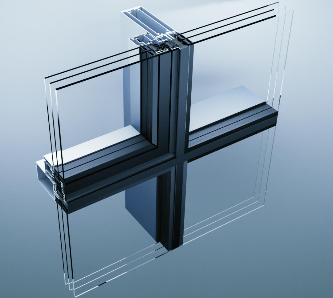 Aluminik CS55 strukturalna fasada
