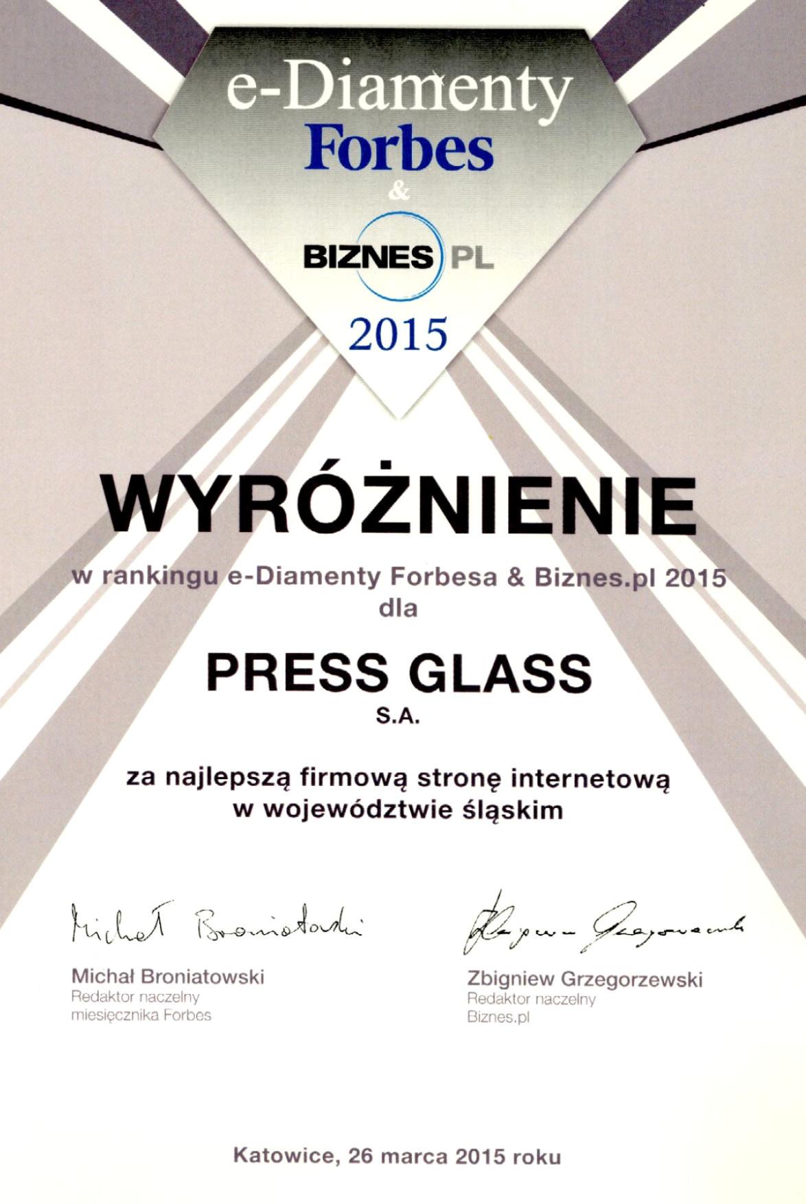 Forbes & Biznes.pl e-Diamond