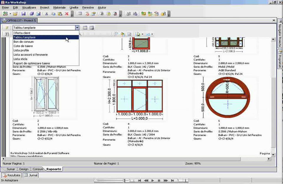 Prgršt opcija za stolariju u Workshop softveru