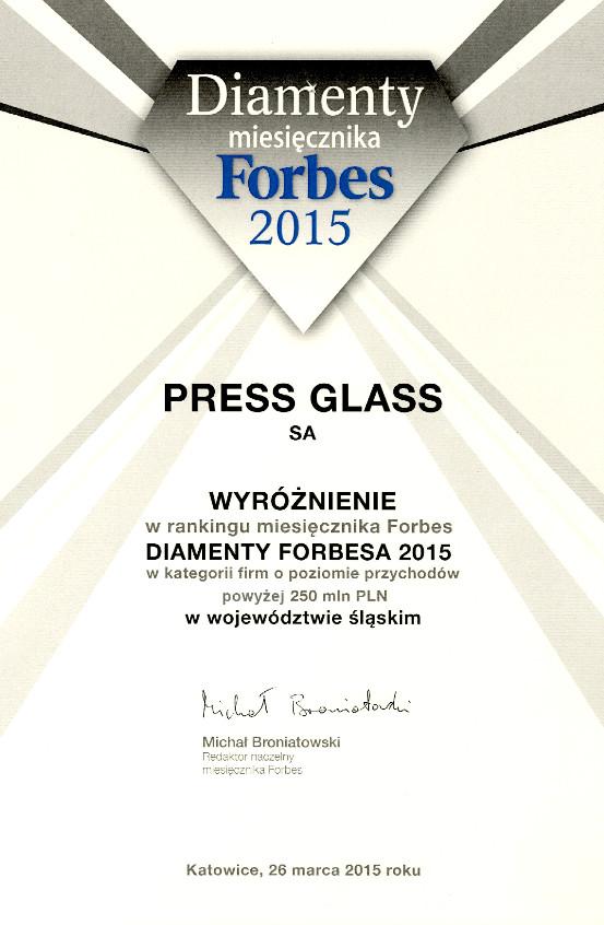 PRESS GLASS - Diamond 2015