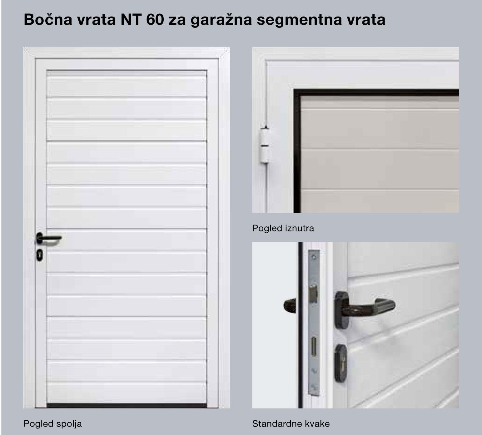 Bočna vrata NT 60 za garažna segmentna vrata