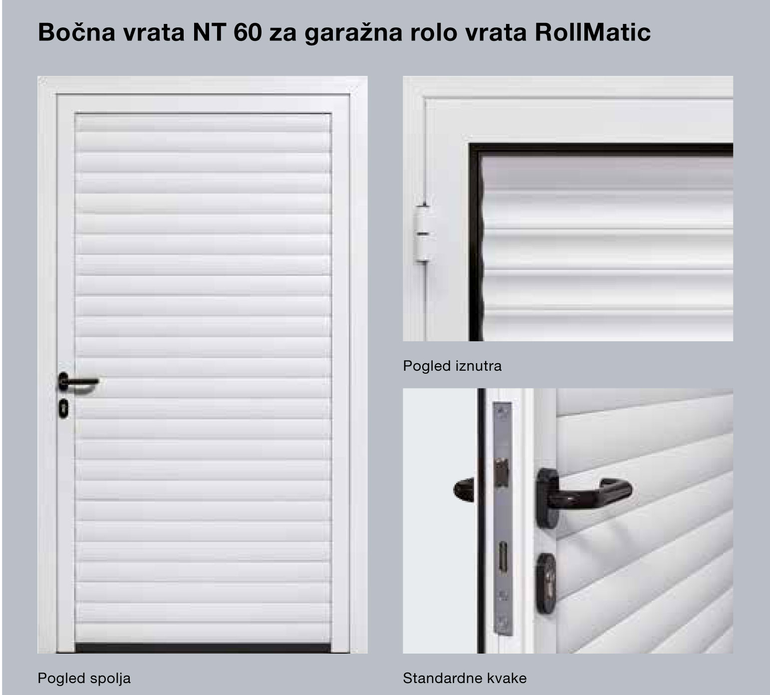 Bočna vrata NT 60 za garažna rolo vrata RollMatic