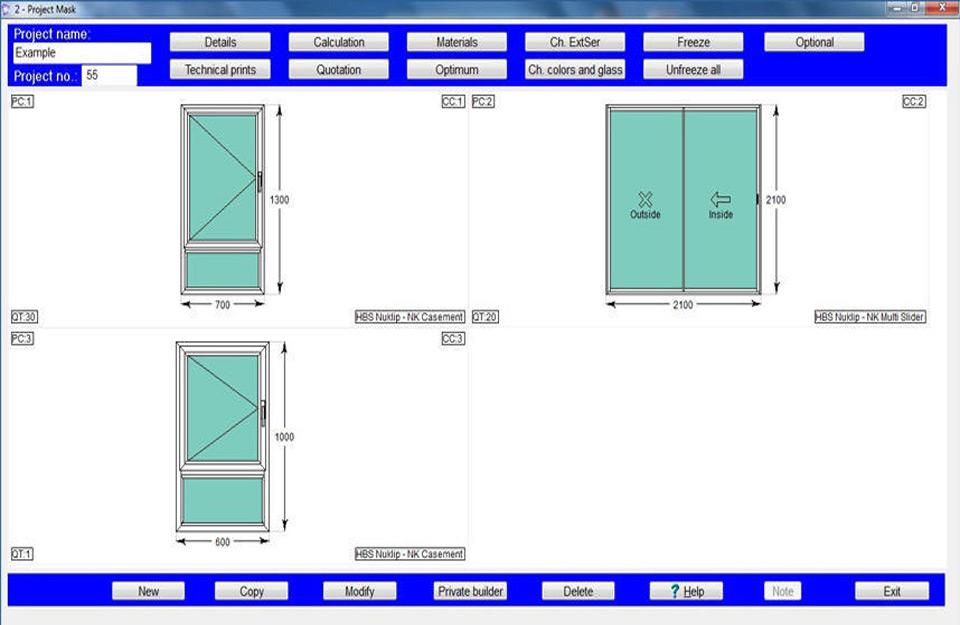 Izbor prozora u Grineri software-u