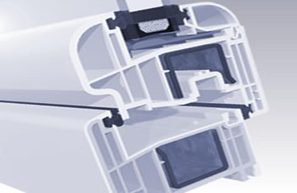 Presek PVC standardnog prozora