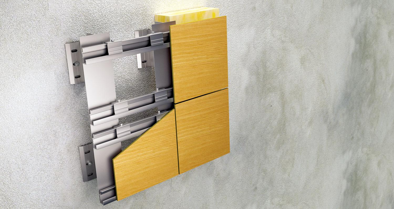 Pored standardnih opcija, postoji i mogućnost nevidljive mehaničke veze panela i podkonstrukcije