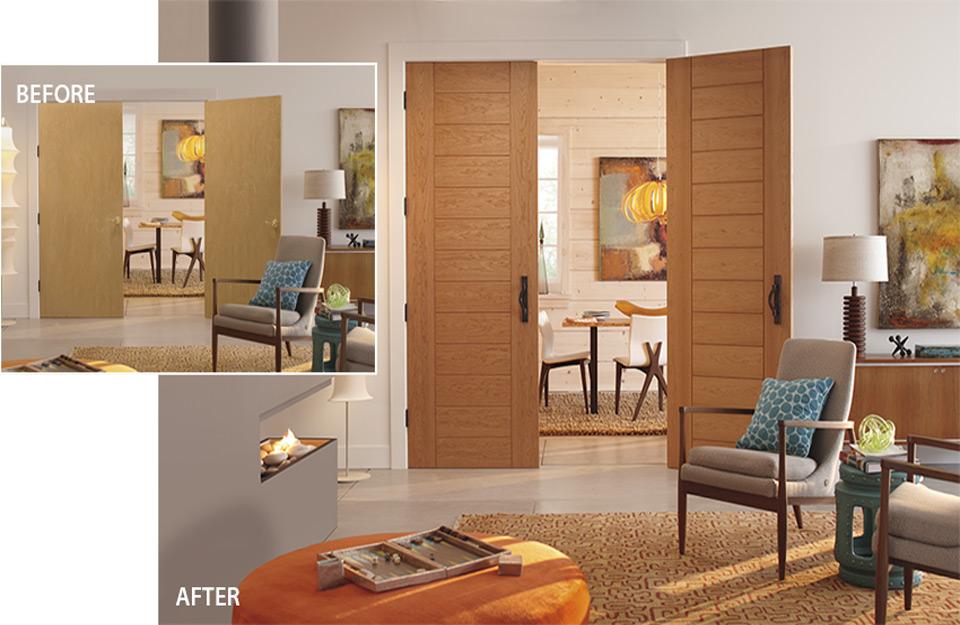 Izgled prostorije pre i posle korišćenja programa
