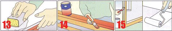 Boju ili lak možete nanositi četkom ili valjkom.