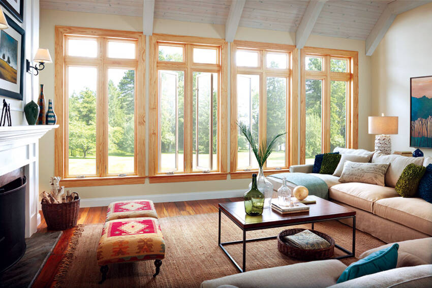 Kombinacija drveta i aluminijuma u prozorskim ramovima