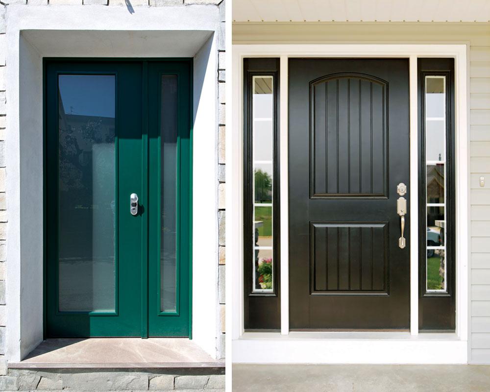 Čelična vrata i vrata od vinila dobro odgovaraju na bezbednosne zahteve