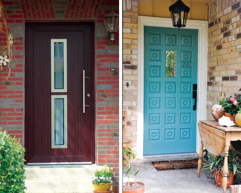 Najviše primenjivani materijali ulaznih vrata danas su puno drvo, metal, staklo, fiberglas i vinil