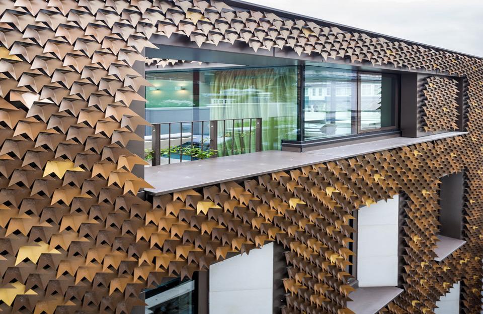 Izgled fasade od listova