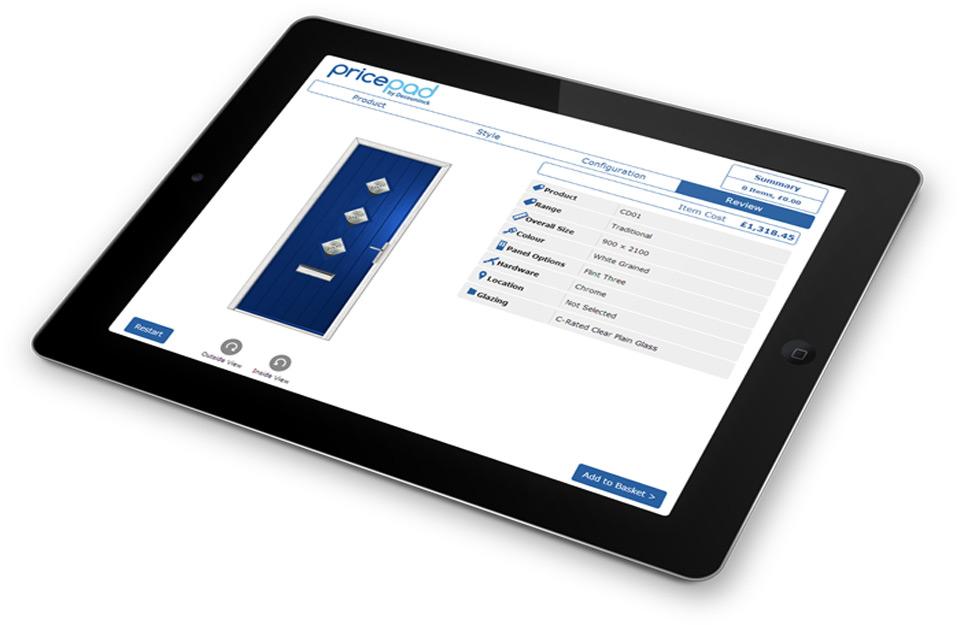 PricePad na tabletu