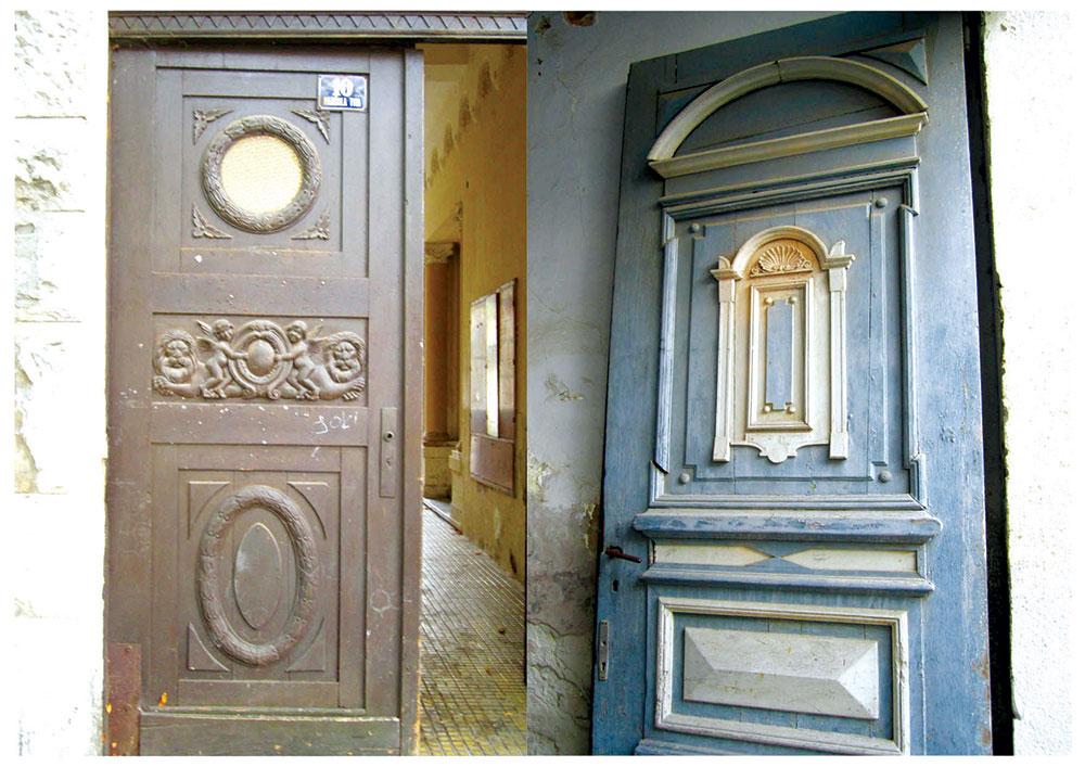 Modifikovana nemačka reč Einfahrt označava pokriveni kolski ulaz u dvorište, veliku ulaznu kapiju kroz koju mogu ući kola, veliki ulazni hodnik