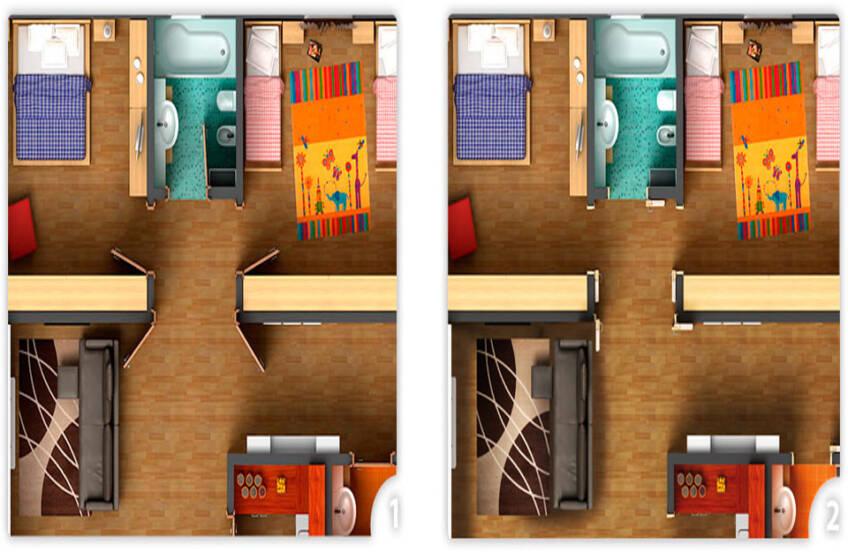 Dimenzije sklapajućih sobnih vrata