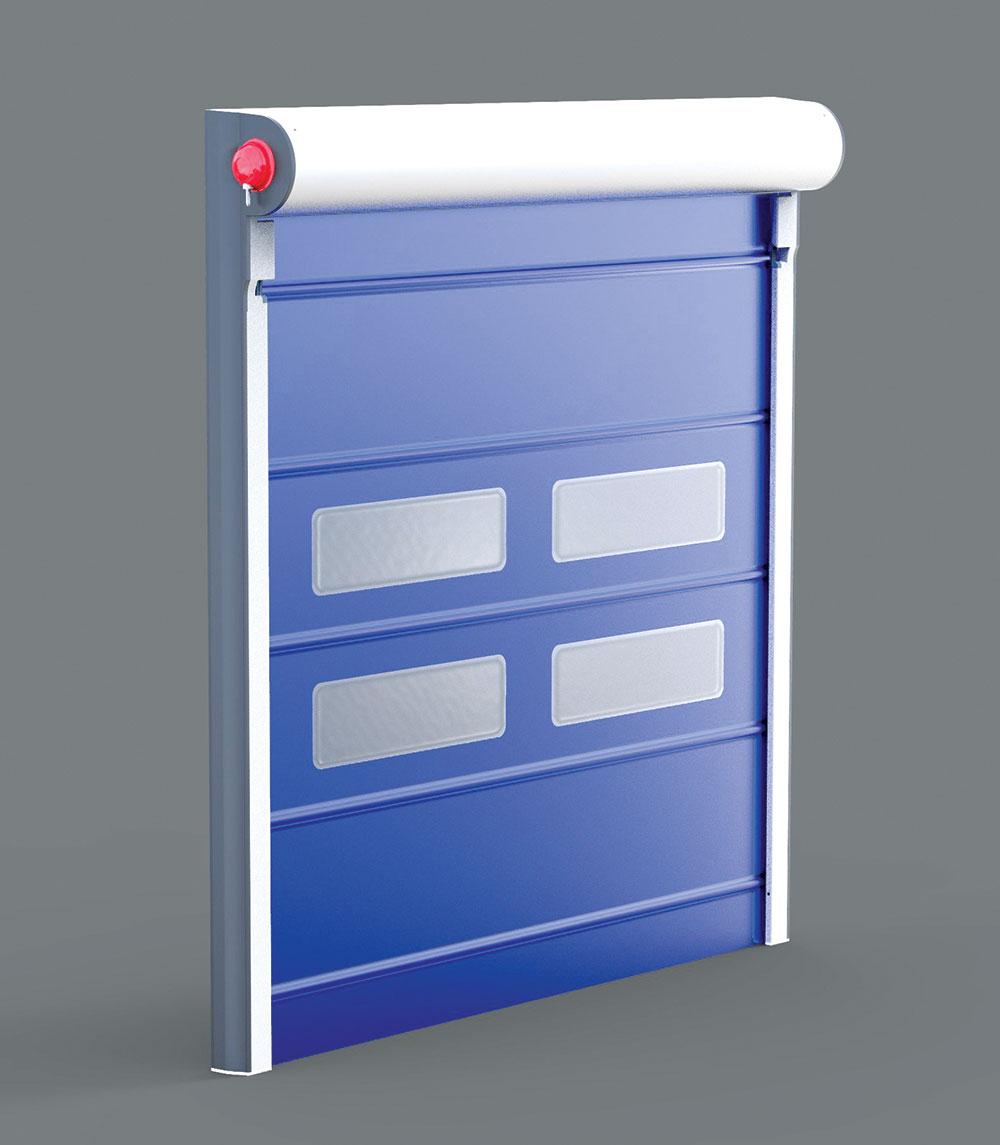 Industrijska segmenta vrata, kao i rolo vrata, funkcionišu vertikalno
