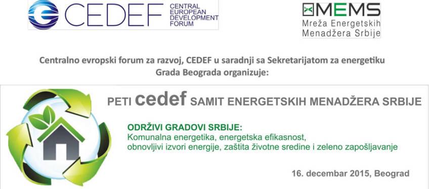 Peti CEDEF samit energetskih menadžera Srbije