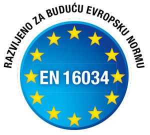 Razvijeno za buduću Evropsku normu