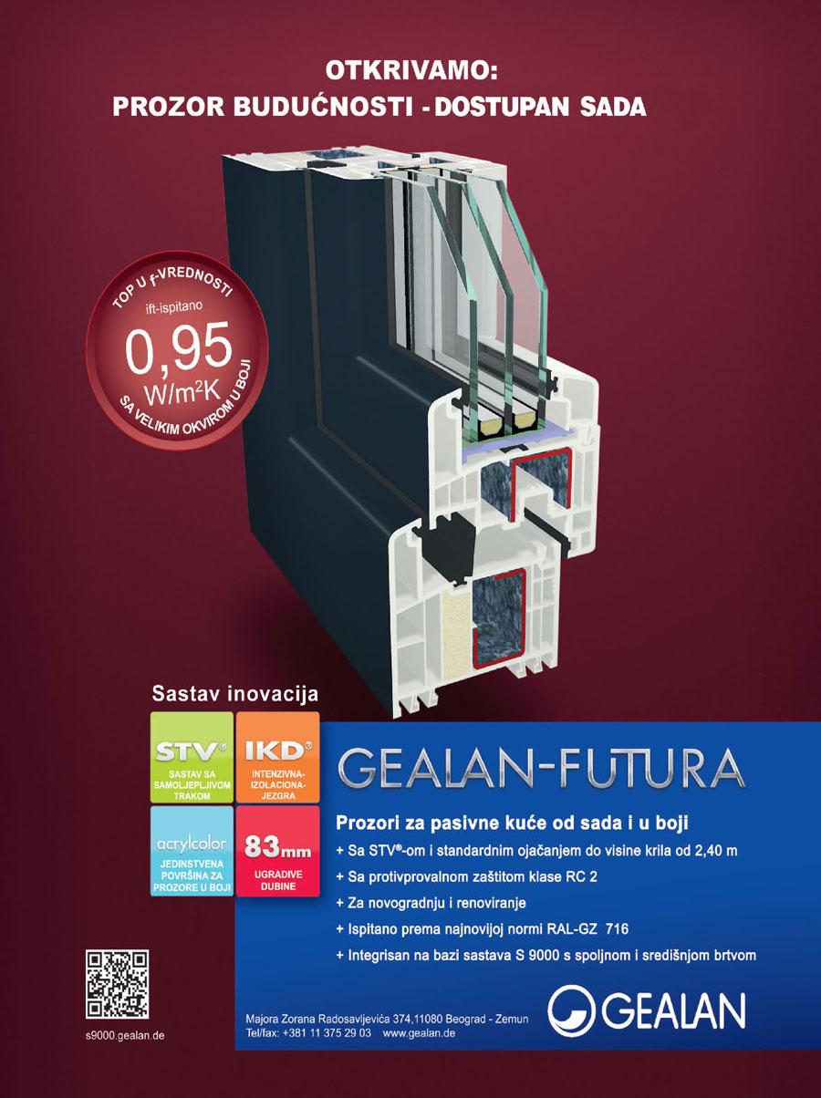 Sistem profila GEALAN S 9000 FUTURA