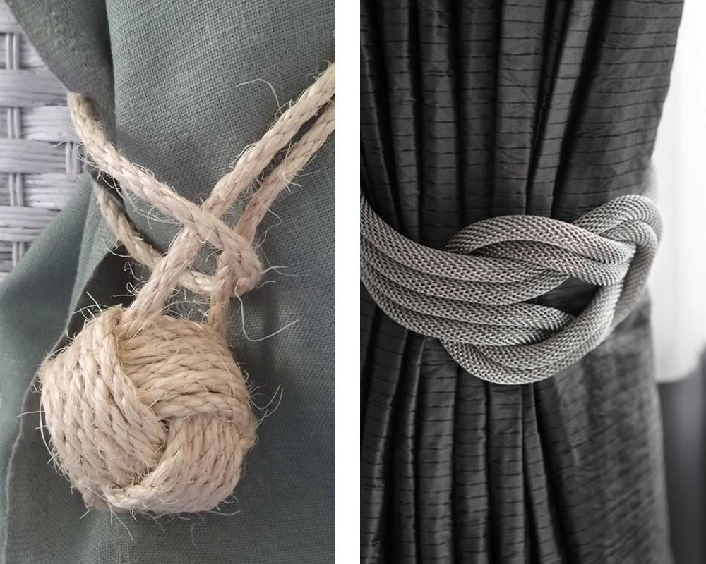 Da li ste mogli da zamislite da kanap koji na kraju ima čvorove, može poslužiti kao garnišna za vaše zavese?