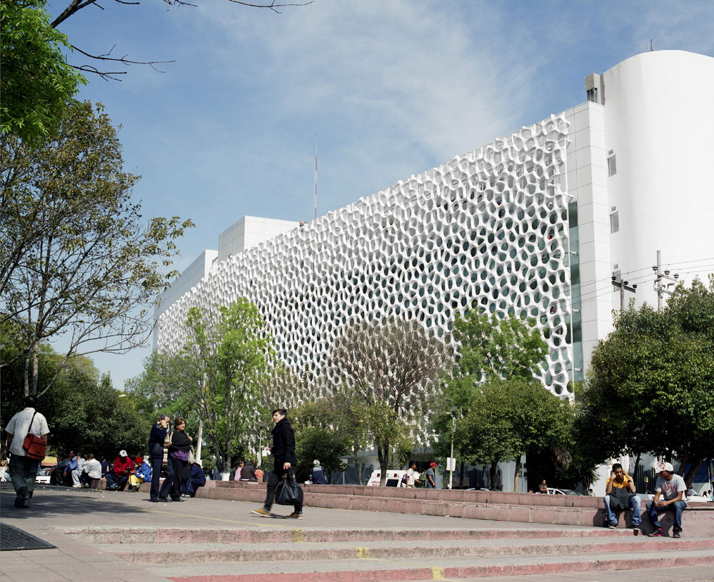 Fasadna obloga pokriva 2.500 kvadratnih metara bolnice Manuel Gea Gonzalez