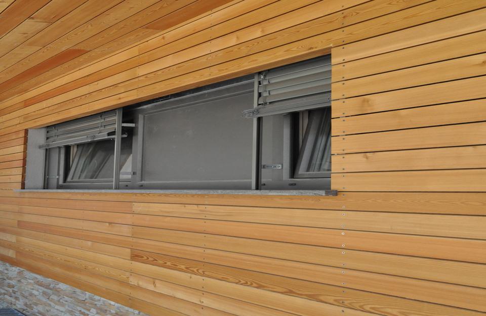 Izgled drvene fasade