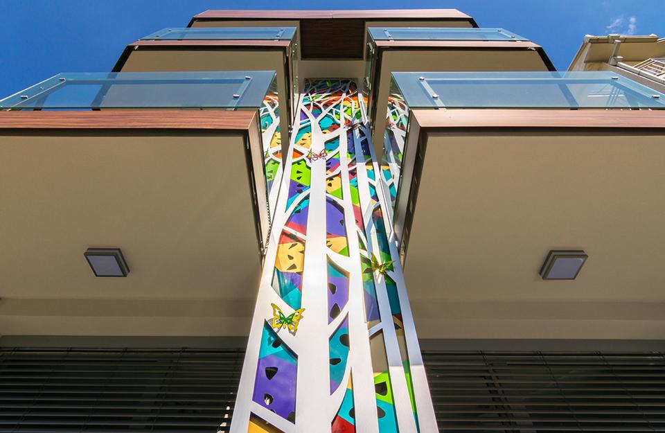 Neobična šarena fasada