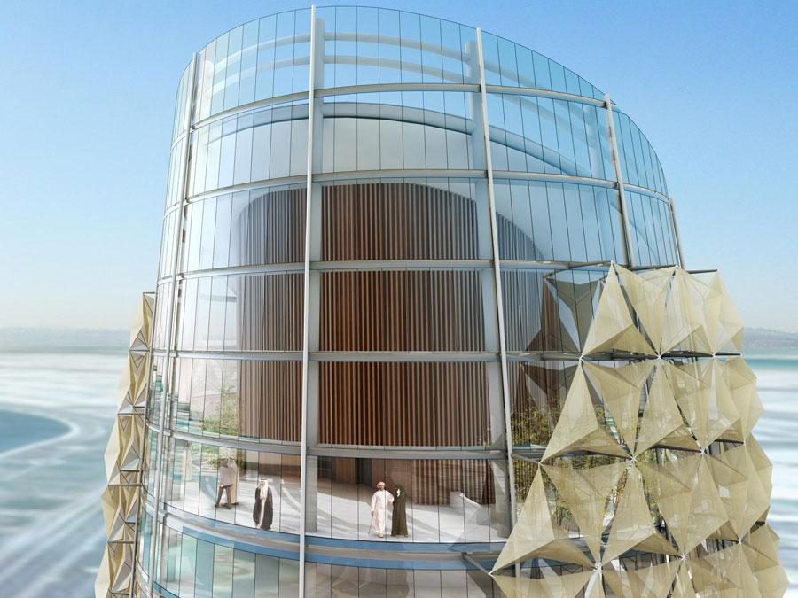 Ova dinamična fasada dopušta prodor svetlosti delimično u toku dana