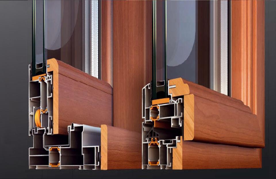 Profili drvo aluminijum prozora
