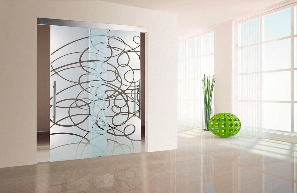 Stakleni moderni dizajn vrata