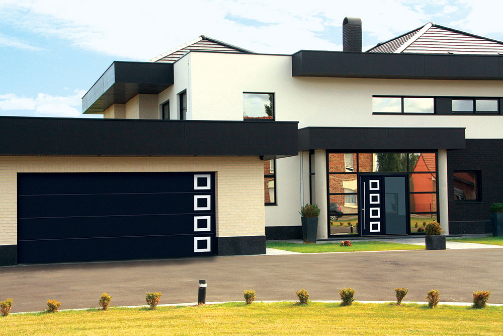 Identičan dizajn garažnih i ulaznih vrata
